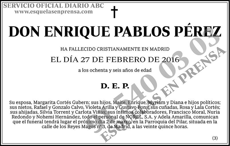 Enrique Pablos Pérez
